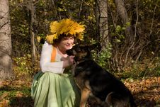 Free Woman And Dog Royalty Free Stock Photo - 9604875