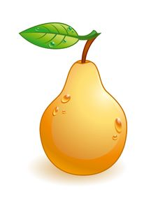 Free Vector Glossy Pear Royalty Free Stock Image - 9605256