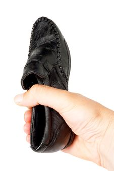 Masculine Shoe Stock Photography