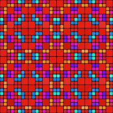 Free Red Squares Pattern Royalty Free Stock Image - 9605716