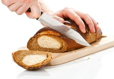 Free Cutting Bread Loaf Royalty Free Stock Photo - 9605885