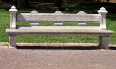 Free Stone Bench In Park Stock Photography - 9606162