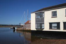 Riverfront Topsham, Devon Stock Photography