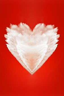 Free Big Fluffy White Heart Of Love Stock Photos - 9607173