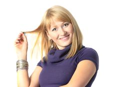 Playful Blond Woman Royalty Free Stock Photography