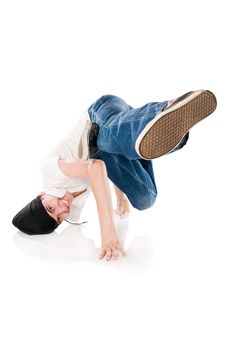 Smiling Breakdancer Stock Image