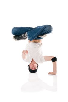 Breakdancer Pointing At You! Royalty Free Stock Image
