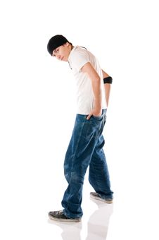 Free Breakdancer Posing Stock Image - 9608101