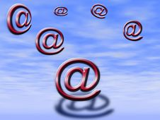 Free Characters Of E-mail Stock Photo - 9608500