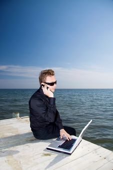 Free Working By The Water Stock Photography - 9608772