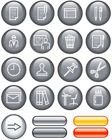 Free Web Icons Set - Office (Vector) Stock Photos - 9609233