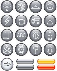 Free Useful Web Icons Set (Vector) Royalty Free Stock Images - 9609359