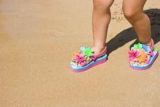 Child Flip Flops - With Clipping Path Stock Photo