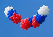 Red, White And Blue Balloons Stock Photo