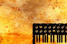 Free Grunge Music Keyboard Background Royalty Free Stock Photography - 9609547