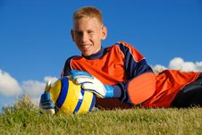 Free Young Goalie Royalty Free Stock Images - 9609619