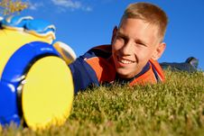 Free Teen Catching Ball Stock Photography - 9609632