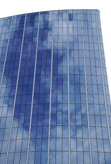 Reflection Of Sky On Skyscraper S Windows Stock Image