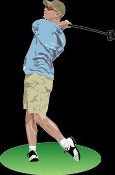 Free Golfer, Standing, Joint, Golf Equipment Stock Image - 96019681