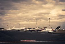 Free Jet Aircraft Parked At Commercial Airport Royalty Free Stock Photography - 96054877