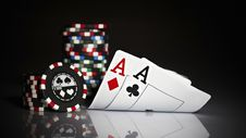 Free Pair Of Aces Royalty Free Stock Photos - 96054878