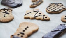 Free Decorated Christmas Cookies Royalty Free Stock Photography - 96054967