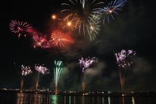 Free Red Green And Blue Fireworks During Nighttime Stock Photos - 96054993