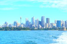 Free City Skyline On Waterfront Royalty Free Stock Photos - 96055198