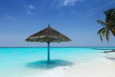 Free Parasol On Beach Stock Images - 96055244