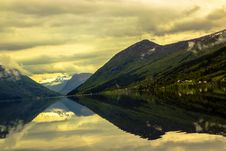 Free Landscape With Mountains And Lake Stock Image - 96055261