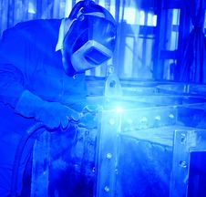Free Welder At Work. Royalty Free Stock Image - 9610046