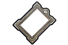 Free Tarnished Silver Picture Frame Royalty Free Stock Images - 9611349
