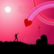Free Pink Landscape Royalty Free Stock Image - 9612346