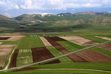 Free Castelluccio /spring Landscape Stock Photos - 9613183
