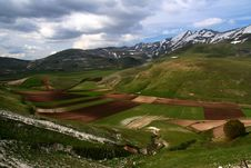 Free Castelluccio /spring Landscape Royalty Free Stock Photography - 9613227