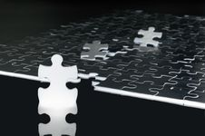 Free To Be A Leader. Concept Made From Puzzle Pieces Stock Photos - 9613283