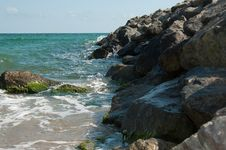 Free Breakwater Royalty Free Stock Photography - 9613287