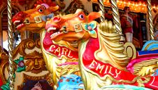 Free Carousel Horses. Royalty Free Stock Photography - 9613667