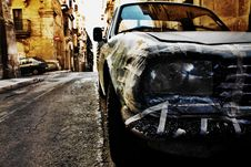 Specially Repaired Car Royalty Free Stock Photos