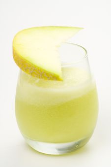 Free A Delicious Melon  Milkshake Stock Photo - 9614830