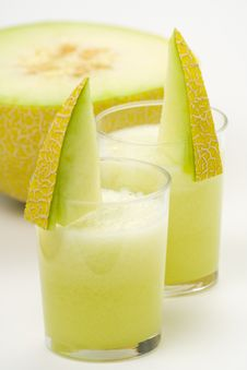 Free A Delicious Melon  Milkshake Stock Photos - 9614903