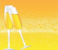 Free Champagne Bubbles Royalty Free Stock Photography - 9615397
