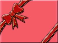 Big Red Bow Stock Images