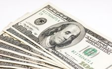 Free Hundred Dollars Bill Royalty Free Stock Photography - 9616227