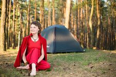 Free Relaxation In Forest Royalty Free Stock Photo - 9617345