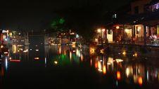 Xitang Town Night Royalty Free Stock Photos