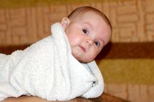 Free The Kid In A Towel Royalty Free Stock Photos - 9618208