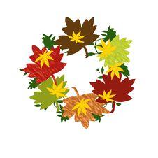 Free Autumn Wreath Royalty Free Stock Photography - 9618657