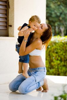 Free Mother And Son Bonding Stock Photography - 96113732