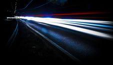Free Streaks Of Headlights At Night  Royalty Free Stock Photography - 96113967